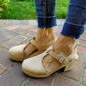e042bfff9ae Lotta from Stockholm Nude Highwood T-bar Clog 9